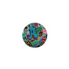 Teks Face 1  Mini Magnets