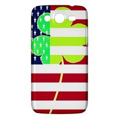Usa Ireland American Flag Shamrock Irish Funny St Patrick Country Flag  Samsung Galaxy Mega 5 8 I9152 Hardshell Case
