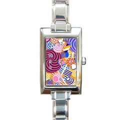 Canddy Color Rectangle Italian Charm Watch
