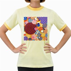 Canddy Color Women s Fitted Ringer T Shirts