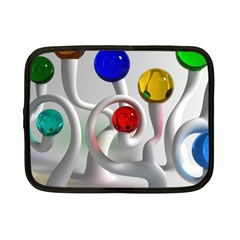 Colorful Glass Balls Netbook Case (small)