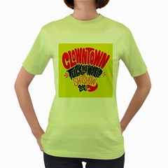 Clowntown Women s Green T Shirt