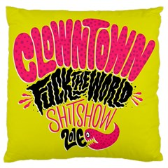 Clowntown Large Flano Cushion Case (two Sides)