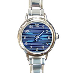 Abric Texture Alternate Direction Round Italian Charm Watch