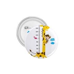 Cute Giraffe Monkey 1 75  Buttons