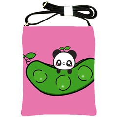 Edamame Panda Pink Cute Animals Shoulder Sling Bags