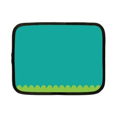 Green Blue Netbook Case (small)