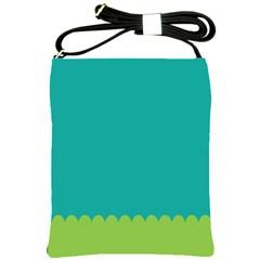 Green Blue Shoulder Sling Bags