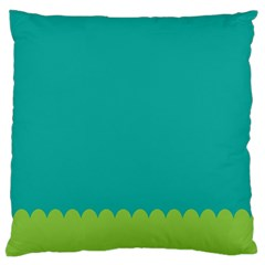 Green Blue Large Flano Cushion Case (two Sides)