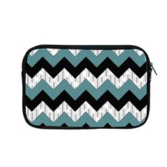 Green Black Pattern Chevron Apple Macbook Pro 13  Zipper Case