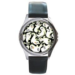 Ghosts Small Phantom Stock Round Metal Watch