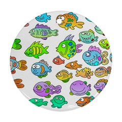 Fishes Col Fishing Fish Ornament (round)