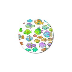 Fishes Col Fishing Fish Golf Ball Marker