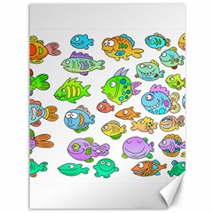 Fishes Col Fishing Fish Canvas 36  x 48