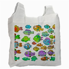 Fishes Col Fishing Fish Recycle Bag (One Side)