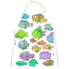 Fishes Col Fishing Fish Full Print Aprons