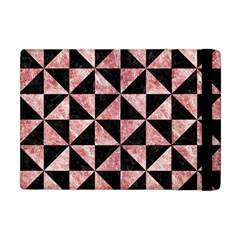 Triangle1 Black Marble & Red & White Marble Apple Ipad Mini Flip Case