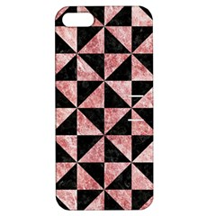 Triangle1 Black Marble & Red & White Marble Apple Iphone 5 Hardshell Case With Stand