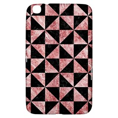 Triangle1 Black Marble & Red & White Marble Samsung Galaxy Tab 3 (8 ) T3100 Hardshell Case