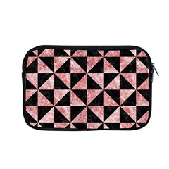 Triangle1 Black Marble & Red & White Marble Apple Macbook Pro 13  Zipper Case