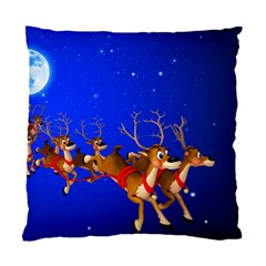 Holidays Christmas Deer Santa Claus Horns Standard Cushion Case (one Side)