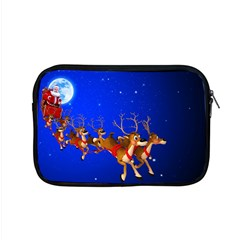Holidays Christmas Deer Santa Claus Horns Apple MacBook Pro 15  Zipper Case