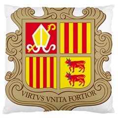 Coat Of Arms Of Andorra Large Flano Cushion Case (two Sides)
