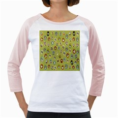 Owl Round Green Girly Raglans
