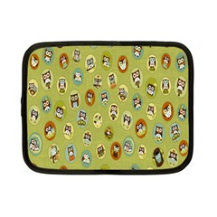 Owl Round Green Netbook Case (small)
