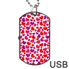 Love Pattern Wallpaper Dog Tag Usb Flash (one Side)