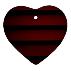 Line Red Black Ornament (heart)
