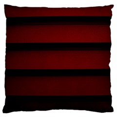 Line Red Black Large Flano Cushion Case (two Sides)