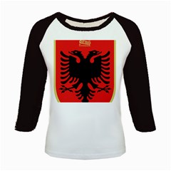 Coat Of Arms Of Albania Kids Baseball Jerseys
