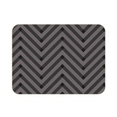 Background Gray Zig Zag Chevron Double Sided Flano Blanket (mini)