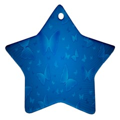 Butterflies Blue Butterfly Ornament (star)