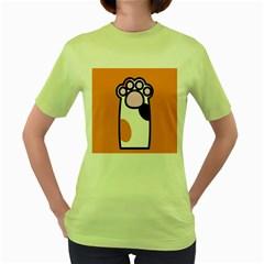 Cathand Orange Women s Green T Shirt