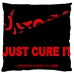 #JUSTCUREIT W/SHAWNSTESTIMONY Standard Flano Cushion Case (One Side) Front