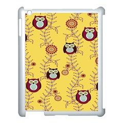 Cheery Owls Yellow Apple Ipad 3/4 Case (white)