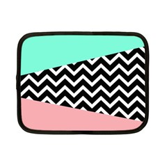 Chevron Green Black Pink Netbook Case (small)