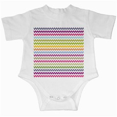 Color Full Chevron Infant Creepers