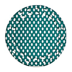 Circular Pattern Blue White Ornament (round Filigree)