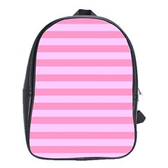 Fabric Baby Pink Shades Pale School Bags(large)