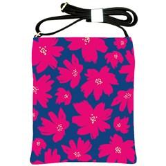 Flower Red Blue Shoulder Sling Bags