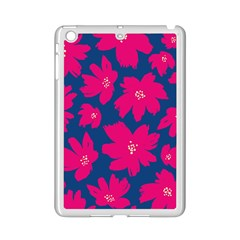 Flower Red Blue Ipad Mini 2 Enamel Coated Cases