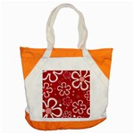 Flower Red Cute Accent Tote Bag Front