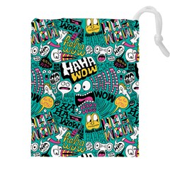 Haha Wow Pattern Drawstring Pouches (xxl)