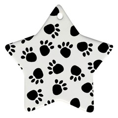 Paws Black Animals Ornament (star)