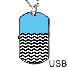 Color Block Jpeg Dog Tag Usb Flash (one Side)