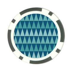 Blues Long Triangle Geometric Tribal Background Poker Chip Card Guards