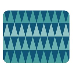 Blues Long Triangle Geometric Tribal Background Double Sided Flano Blanket (large)